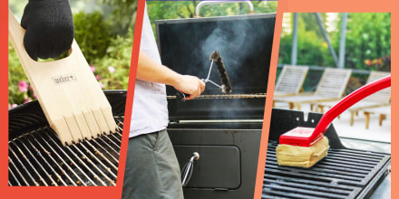 Illustration of different ways to clean your grill