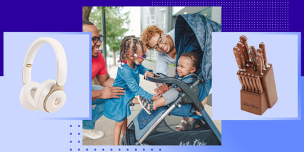 Family circling around a baby in a stroller, Beats headphones and Ree Drummond knife set all on sale for Walmart Prime Day Sale. Shop Walmart Prime Day deals during Deals for Days, a sales event running June 20 - 23. See the best Walmart sales during prim
