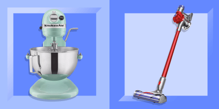 Image of a Kitchen Aid and a Dyson Vacuum