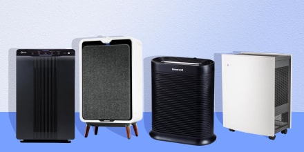 Illustration of four Air Purifiers on sale on Amazon Prime Day