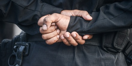 Image: Special Operations Policeman hands