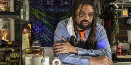 Marijuana activist Ed Forchion, who calls himself NJ Weedman, at his restaurant NJ Weedman's Joint in Trenton, N.J., on Feb. 12, 2021.