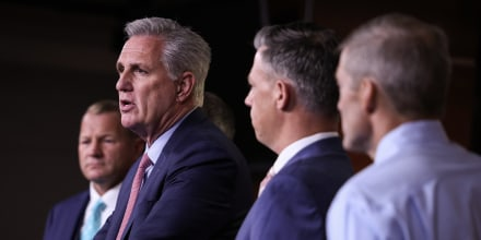 Image: Kevin McCarthy Holds Press Conference After Dispute Over Jan 6th Committee Members
