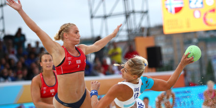 Image: 2018 Beach Handball WCHS Final In Kazan