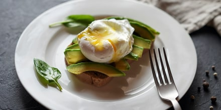 Avocado on toast with poached egg