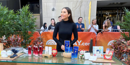 Candice Kumai on broadcast discussing Japanese skin care
