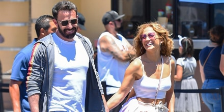 Image: Jennifer Lopez and Ben Affleck at Universal Studios Hollywood, on July 2, 2021.