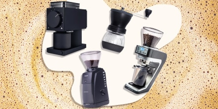 Illustration of five different styles and sized coffee grinders. See the best coffee grinders to buy, including burr grinders, manual grinders, electric grinders and more. Shop brands like Baratzas, Fellow Ode Brew and more.