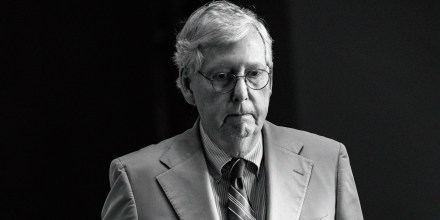 Senate Minority Leader Mitch McConnell, R-Ky., heads to the floor of the Senate on Capitol Hill on July 26, 2021.