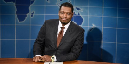 Anchor Michael Che during Weekend Update on Oct. 24, 2020