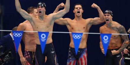 Image: Swimming - Men's 4 x 100m Medley Relay - Final