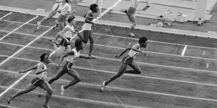 Wyomia Tyus Winning Race at Olympics