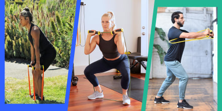 Illustration of two different Woman and one Man using the new TRX workout band
