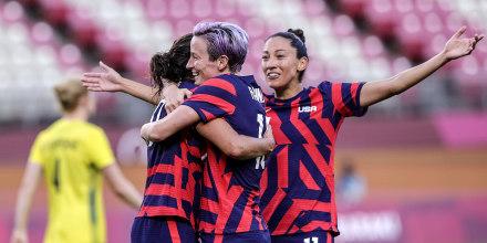 Image: Soccer Football - Women - Bronze medal match - Australia v United States