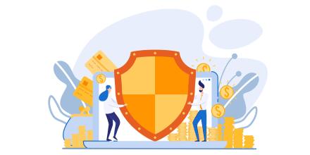 Stock VectorI of identity Information and Deposit Accounts Defense