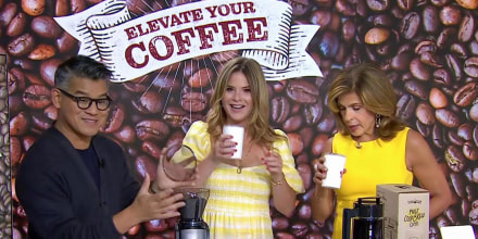 Hoda Kotb and Jenna Bush Hager talk with Peter Som about coffee