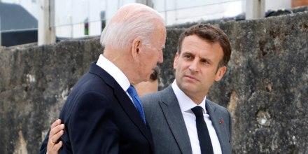 Image: Joe Biden and Emmanuel Macron