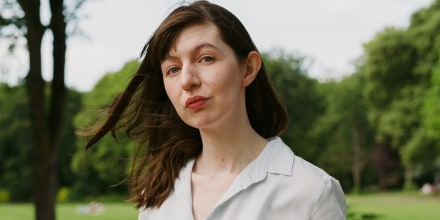 Image: Sally Rooney in Merrion Square in Dublin on July 24, 2021.