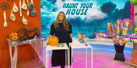 Monica Mangin on Broadcast to share how to decorate your home this Halloween