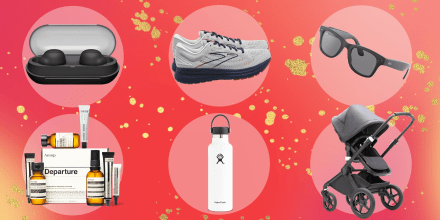Illustration of 6 different gifts that are great for travelers for the Holidays