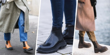 Split image of two stylish Women wearing different styles of the Chelsea boot