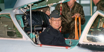 Image: Colin Powell in a MiG Fighter Jet