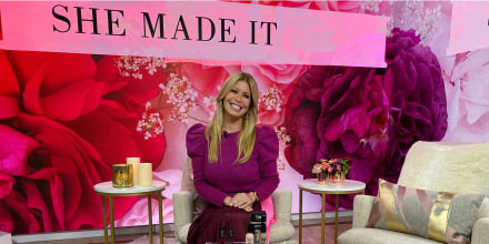 Jill Martin on Broadcast posing with products from the She Made It segment