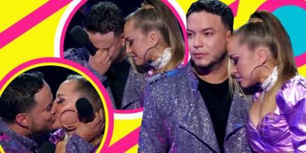 Lorenzo Méndez llora antes de besar a Jessica Díaz en la boca