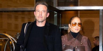 Ben Affleck y Jennifer Lopez en Midtown Manhattan en Nueva York octubre 2021