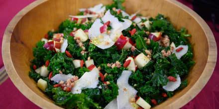 Camila McConaughey Quinoa and Shrimp Medley + Warm Kale Salad