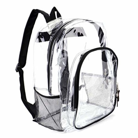 Heavy Duty Clear Backpack From Jomparo