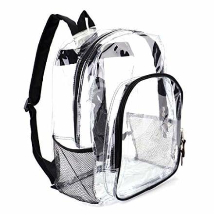 Heavy Duty Clear Backpack From Jomparo
