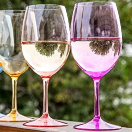Lily's Home Unbreakable Acrylic Wine Glasses