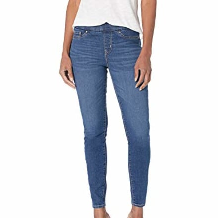 Signature by Levi Strauss & Co. Gold Label Women's Totally Shaping Pull-on Skinny Jeans, Sun Worshipper, 14