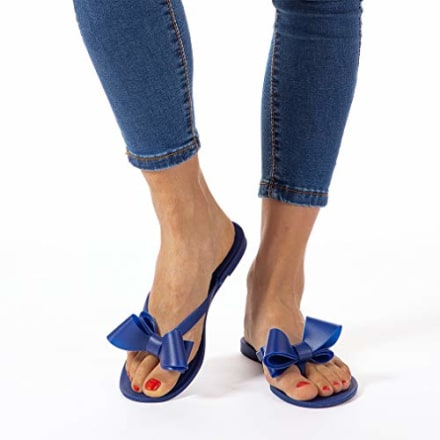 Mtzyoa Jelly Bow Flip Flops