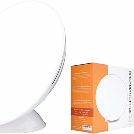 Circadian Optics Light Therapy Lamp - UV-Free LED Happy Mood Lamps for Seasonal Sunlight Changes - Full Spectrum Sun Lights for Work from Home - Lampu (White)