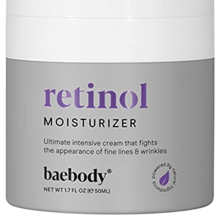 Baebody Retinol Moisturizer Cream for Face, Neck and D?colletage with Wrinkle and Acne Fighting Retinol, Jojoba Oil and Vitamin E, 1.7 Ounces