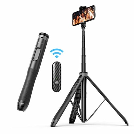 """ATUMTEK 51"""" Selfie Stick Tripod, All in One Extendable Phone Tripod Stand with Bluetooth Remote 360? Rotation for iPhone and Android Phone Selfies, Video Recording, Vlogging, Live Streaming - Black"""