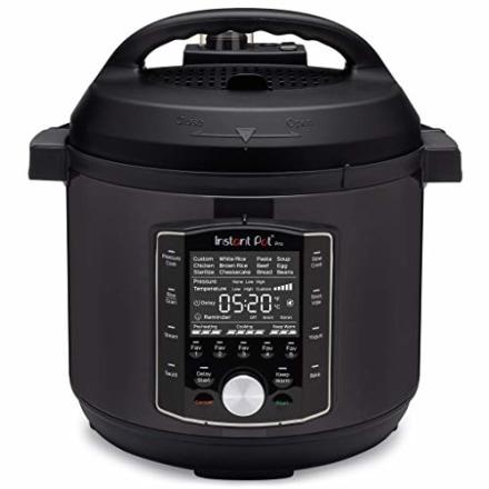 Instant Pot Pro 10-in-1 Pressure Cooker, Slow Cooker, Rice/Grain Cooker, Steamer, Saute, Sous Vide, Yogurt Maker, Sterilizer, and Warmer, 6 Quart