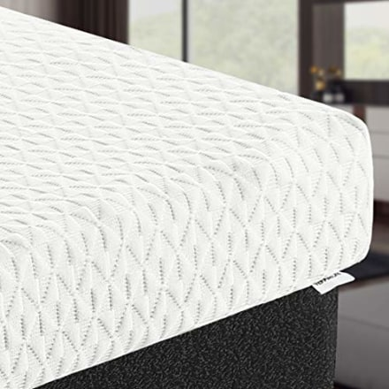TEKAMON 3 Inch Memory Foam Mattress Topper Twin XL Size,High Density Gel-Infused Cooling Foam Mattress Topper,with Removable & Washable Bamboo Fiber Cover