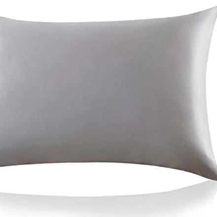 ZIMASILK 100% Mulberry Silk Pillowcase for Hair and Skin,Both Side 19 Momme Silk, 1pc (King 20''x36'', Dark Grey)