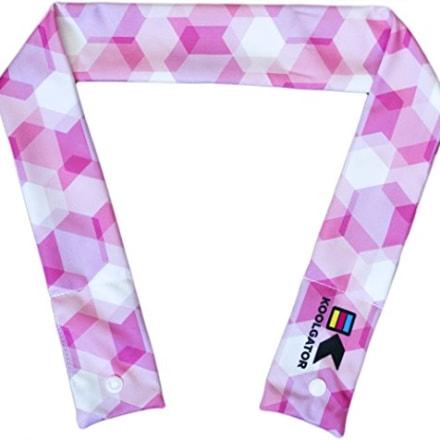 KOOLGATOR Cooling Neck Wrap, Pink Geometric Design