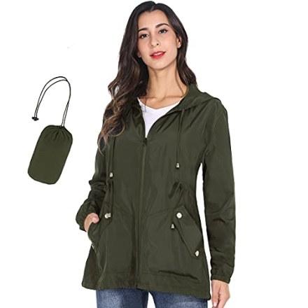 JTANIB Packable Rain Jacket