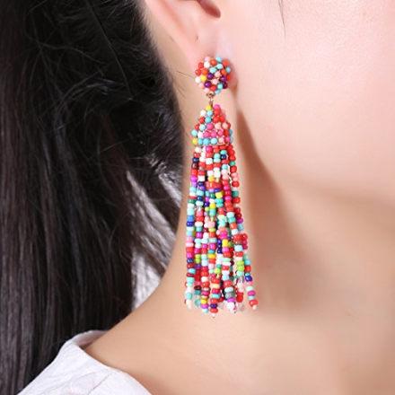 NLCAC Beaded Tassel Earrings