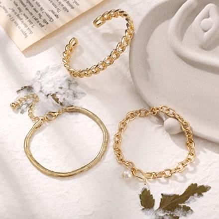 17 Mile Gold Necklace and Bracelet Set