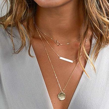 Turandoss Dainty Layered Choker Necklace