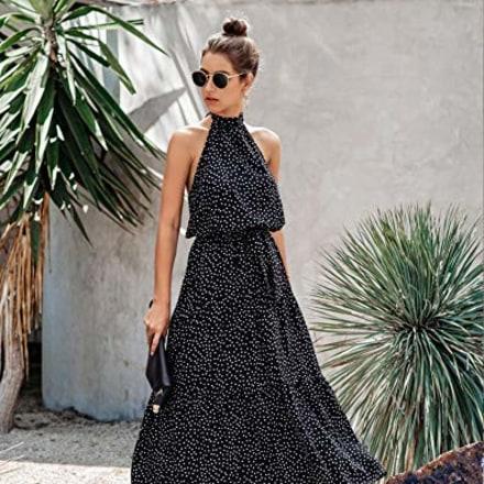 PrettyGarden Halter Maxi Dress