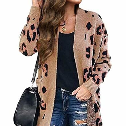 Zesica Leopard Print Cardigan