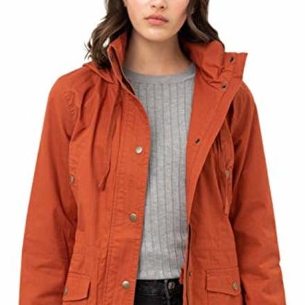 Fashion Boomy Zip Up Anorak Jacket