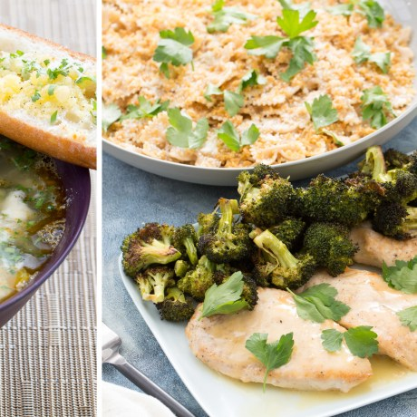 Butternut Squash Minestrone, Chicken with Roasted Broccoli and more healthy weeknight dinners